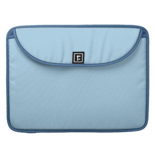 Azul ligero sólido del Cornflower Fundas Para Macbooks
