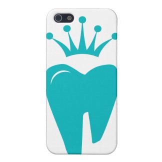 Azul lindo del logotipo de la corona del diente de iPhone 5 carcasas