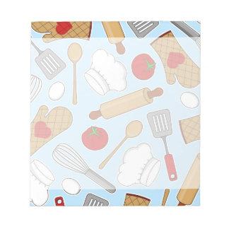 Azul lindo del modelo del amor del cocinero/del co libretas para notas