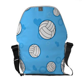 Azul lindo del modelo del voleibol bolsa messenger
