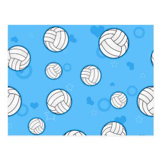 Azul lindo del modelo del voleibol tarjeta postal