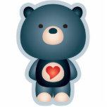 Azul lindo del oso esculturas fotograficas