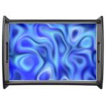 azul líquido bandejas