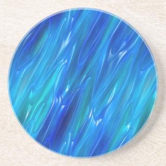 Azul líquido posavasos para bebidas