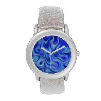 azul líquido relojes de mano