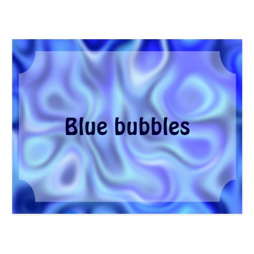 azul líquido tarjeta postal