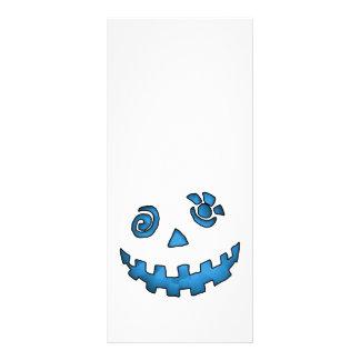 Azul loco de la cara de la calabaza de la linterna lonas publicitarias
