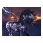 Azul loco del caballo postales