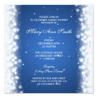 """Azul mágico de la chispa de la fiesta de invitación 5.25"""" x 5.25"""""""