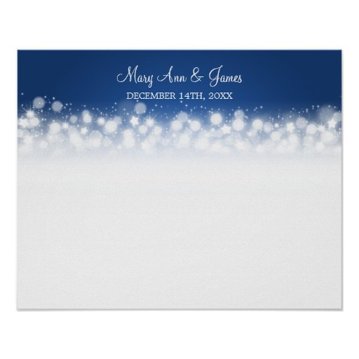 Azul mágico de la chispa del Guestbook del boda Poster