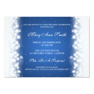 """Azul mágico elegante de la chispa de la fiesta de invitación 5"""" x 7"""""""