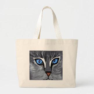 azul magnífico de los ojos de gato bolsa