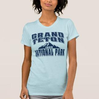 Azul magnífico del viejo estilo de Teton Camiseta