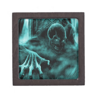 Azul malvado muerto cajas de regalo de calidad