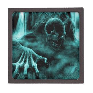 Azul malvado muerto caja de recuerdo de calidad