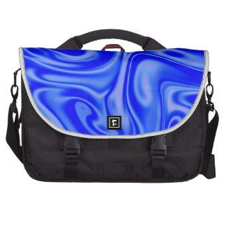 azul manchado de tinta del arte 01 flúidos bolsa para ordenador