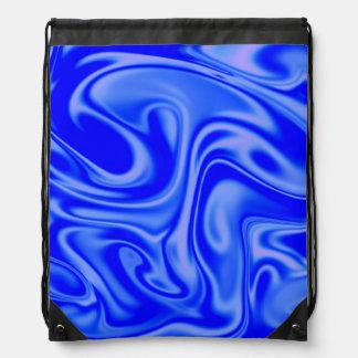 azul manchado de tinta del arte 01 flúidos mochila