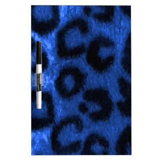 Azul manchado del leopardo tableros blancos