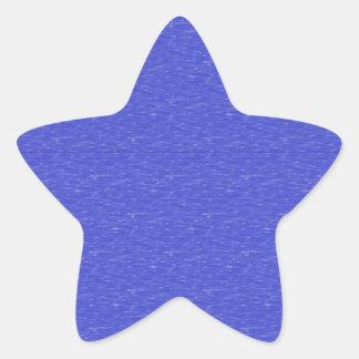 Azul manchado oscuro pegatina en forma de estrella