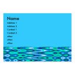 azul maravilloso del horizonte tarjeta personal