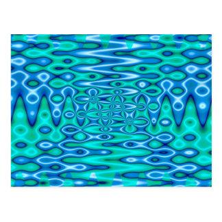 azul maravilloso del horizonte tarjeta postal