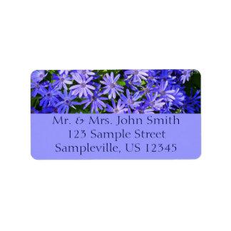 Azul Margarita-como las flores Etiquetas De Dirección