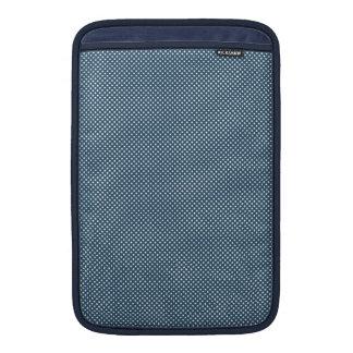 Azul marino con los puntos blancos simples funda para macbook air