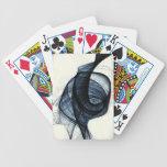 azul marino de humo y de peligro del wirl baraja de cartas