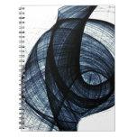 azul marino de humo y de peligro del wirl libretas espirales