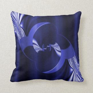 Azul marino de la flor de Digitaces creada por Tut Cojin
