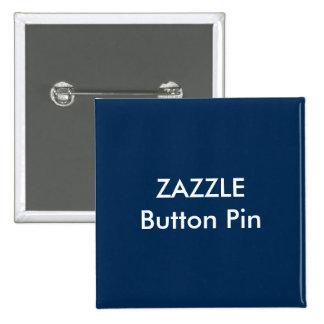 AZUL MARINO en blanco del Pin del botón cuadrado