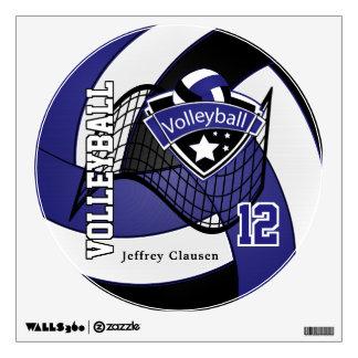 Azul marino personalice el voleibol vinilo