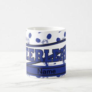 Azul marino personalice las tazas de la animadora