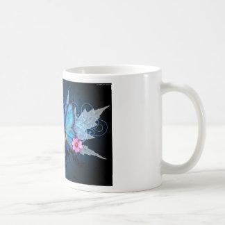 Azul-Mariposa-Abstracto Tazas