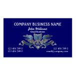 Azul masculino profesional del escudo de Eagle Plantilla De Tarjeta Personal