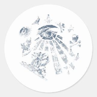 Azul masónico de la fantasía del pegatina