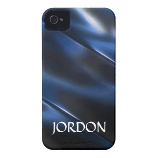 Azul metálico brillante iPhone 4 carcasa