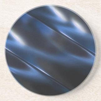 Azul metálico brillante posavasos para bebidas