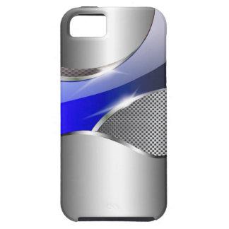 Azul metálico de la redada de la malla del cromo funda para iPhone SE/5/5s