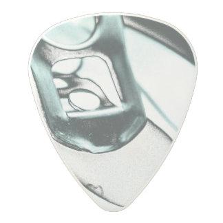 Azul metálico monocromático abierto top de la plectro de carbonato