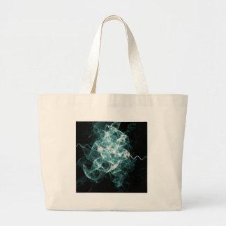 azul mezclado fractal bolsa