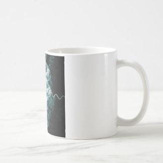 azul mezclado fractal taza de café