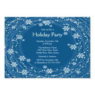Azul moderno de la celebración de días festivos de comunicados personales