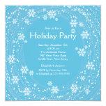 Azul moderno de la celebración de días festivos de comunicados personalizados