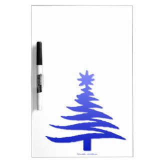 Azul moderno de la impresión de la plantilla del á tableros blancos