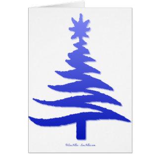 Azul moderno de la impresión de la plantilla del á tarjeta de felicitación