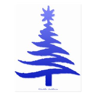 Azul moderno de la impresión de la plantilla del postal