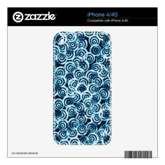 Azul moderno del flujo del día iPhone 4 skin