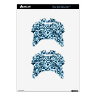 Azul moderno del flujo del día mando xbox 360 skin