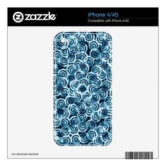 Azul moderno del flujo del día skin para el iPhone 4